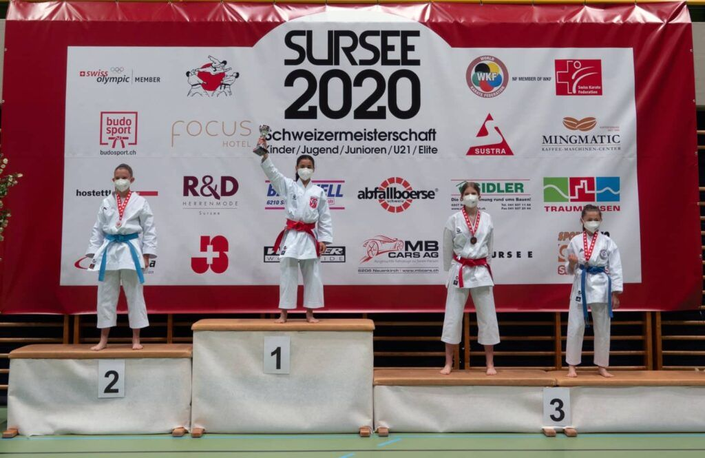 Siegerpodest Sursee 2020 SM Karate