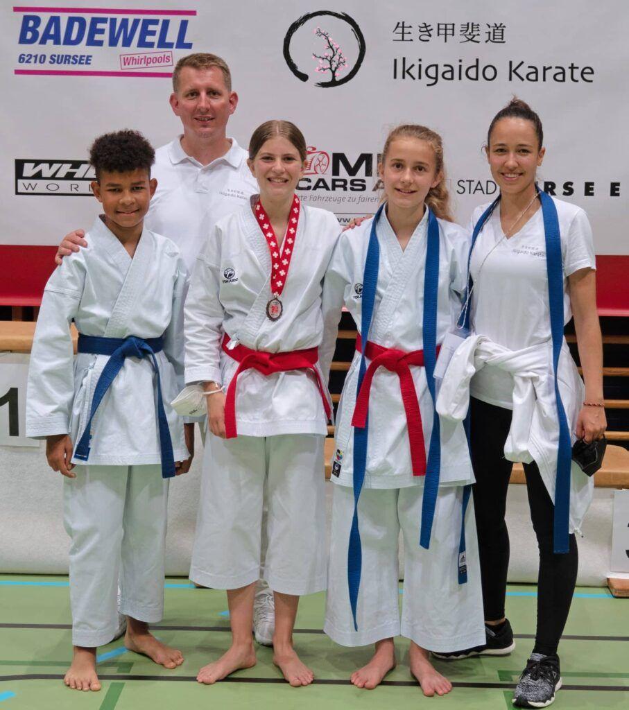 Trainerteam mit Ikigaido Karatekids